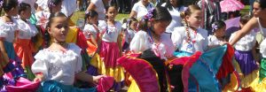 Children getting ready for parade in Costa Rica